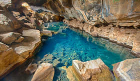 Celebrity Cruises volcanic cave Grjotagja Iceland