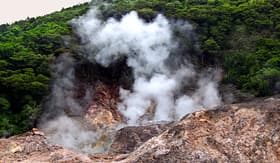 Celebrity Cruises volcano near Soufriere Saint Lucia