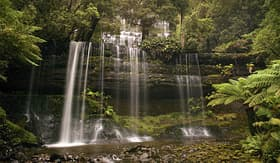 Celebrity Cruises Waterfall in lake St Clair National Park