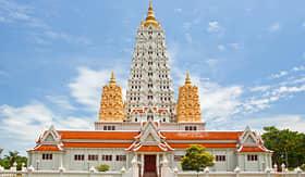 Celebrity Cruises White Buddhagaya Pagoda in Temple Wat Yansangwararam Pattaya Thailand