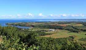 Crystal Cruises arieal view of Nova Scotia Canada