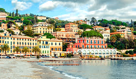 Crystal Cruises beach of Santa Margherita Genoa Italy