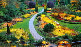 Crystal Cruises Butchart Gardens Victoria British Columbia Canada