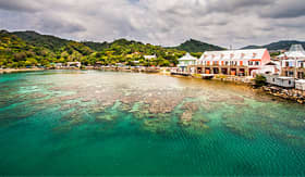 Crystal Cruises Coast of Roatan, Honduras