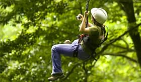 Crystal Cruises Costa Rica rainforest canopy ziplining adventure