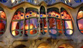 Crystal Cruises Gaudis famous Caasa Batllo Barcelona Spain