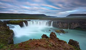 Crystal Cruises Godafoss-Waterfall of Gods in Iceland