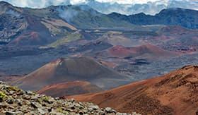 Haleakala Volcano Craters in Hawaii