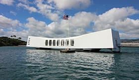 USS Arizona Memorial in Pearl Harbour