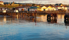 Crystal Cruises Punta Arenas cityscape Chile