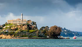Crystal Cruises view of Alcatraz Island in San Francisco