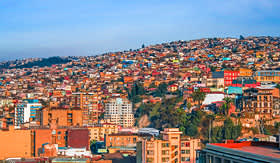 Crystal Cruises view of Valparaiso Chile
