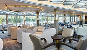 Crystal River Cruises Palm Court social hub