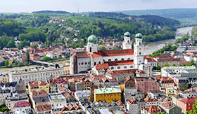 Picturesque Passau, Germany