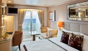 Crystal staterooms Deluxe Stateroom with Verandah