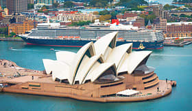 Cunard Line aerial view of Sydney Opera House