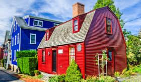 Cunard Line beautiful old homes in Newport Rhode Island