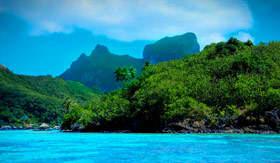 Bora Bora Landscape - Cunard Line