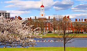 Cunard Line elite Harvard University campus in Boston