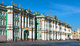 Cunard Line exterior view of Hermitage Russia St Petersburg