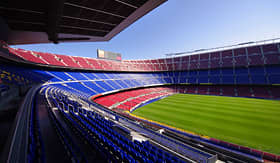 Cunard Line inside the FC Barcelona football stadium