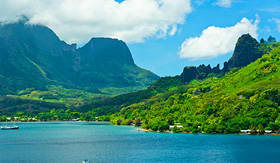 Cunard Line Moorea Islands Cooks Bay French Polynesia