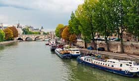 Cunard Line Seine River in Paris, France