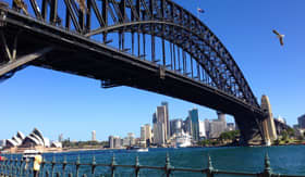 Sydney Harbour Bridge - Cunard Line