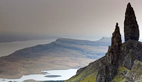 Cunard Line the old man of Storr Isle of Skye Scotland