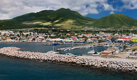 Cunard Line view of the port of Basseterre St Kitts