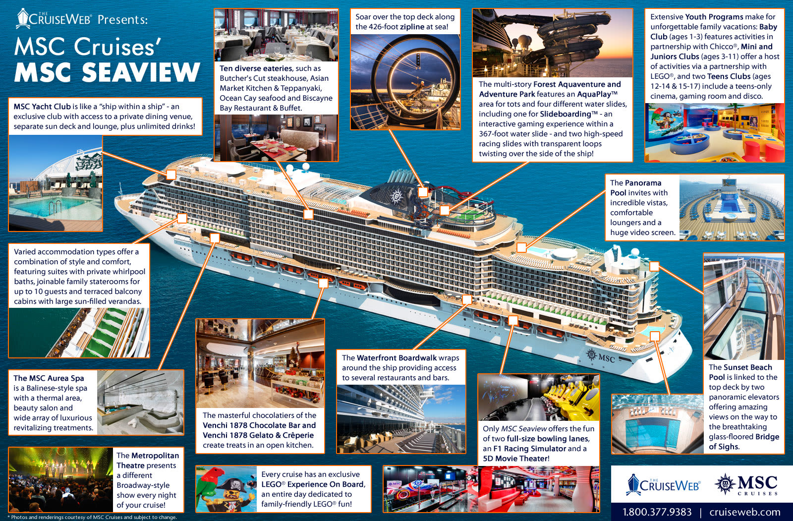 Inside MSC Seaview: A Cruise Ship Infographic