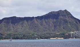 Diamond Head Crater in Hawaii