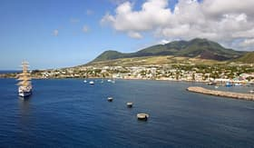 Holland America Line a view of the port of Basseterre in St Kitts West Indies