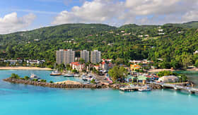 Holland America Line aerial view of Ocho Rios Jamaica in the caribbean