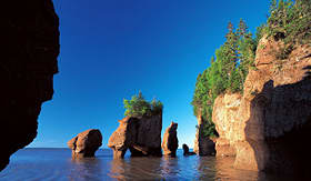 Holland America Line Bay of Fundy hopewell rocks New Brunswick Canada
