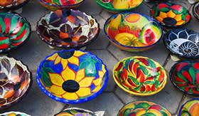 Holland America Line beautiful decorated mexican bowls