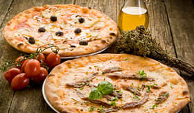 Holland America Line pizza napoli and capricciosa