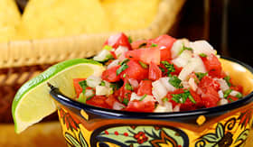 Holland America Line refreshing salsa and guacamole with chips