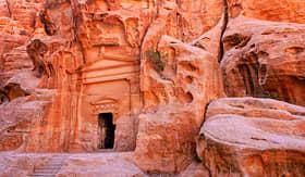 Holland America Line rock temple Petra Jordan