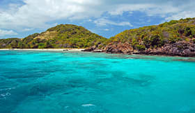 Holland America Line beach view at Tobago Cays Saint Vincent and Grenadines