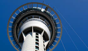 Holland America Line Sky Tower in Auckland southern hemisphere