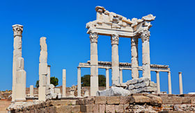 Holland America Line Temple of Trajan at Acropolis of Pergamon Turkey