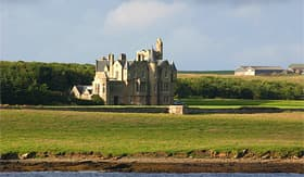 Holland America Line view of the Balfour Castle and property