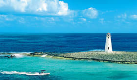 MSC Cruises beautiful turquoise water of Nassau