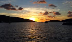 Cruising in the British Virgin Islands Harbor