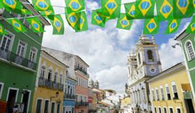 MSC Cruises colonial architecture of Pelourinho Salvador da Bahia Brazil