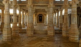Interior of a Jain Temple
