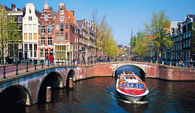 MSC Cruises small canal in Amsterdam