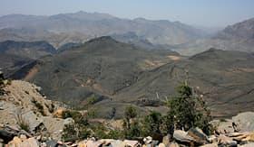 MSC Cruises the mountains outside Khasab Oman