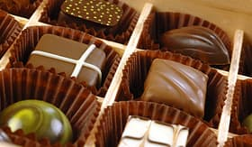 MSC Cruises variety of delish Belgian chocolates